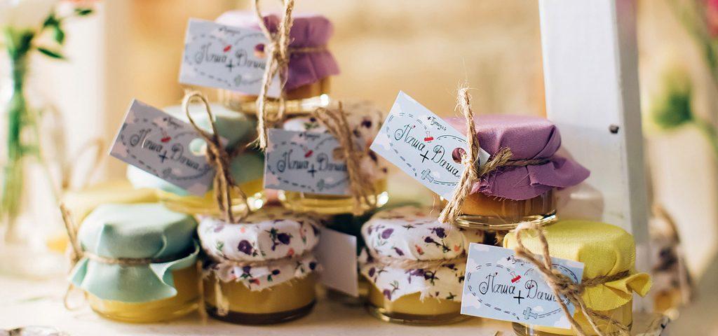 баночки с медом для гостей